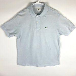 Lacoste Light Blue size 5 Men's Short Sleeve Polo